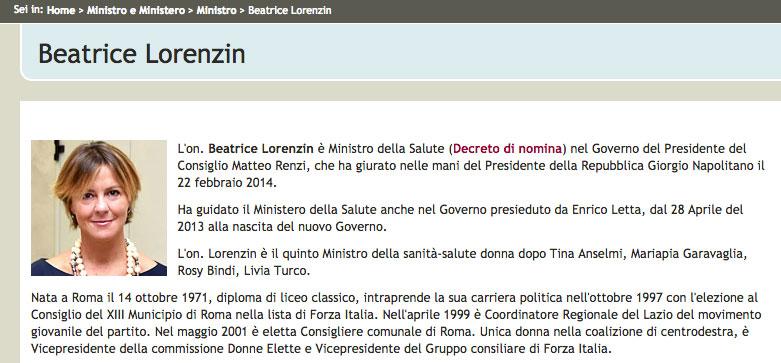 """""""Nata a Roma il 14 ottobre 1971, diploma di liceo classico, intraprende la sua carriera politica nell'ottobre 1997 con l'elezione al Consiglio del XIII Municipio di Roma nella lista di Forza Italia."""""""