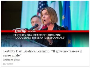 fertility day lorenzin
