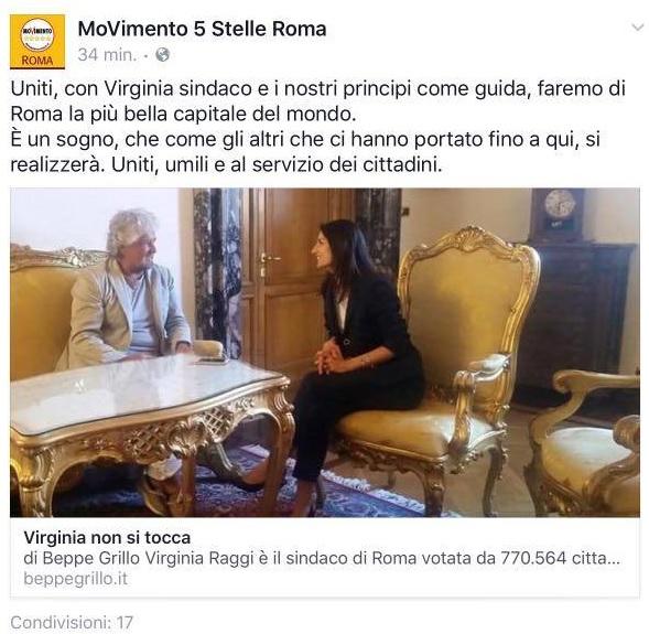 Roma, Grillo incontra la Raggi e Di Maio contrattacca