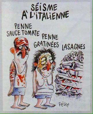 vignetta charlie hebdo terremoto italia