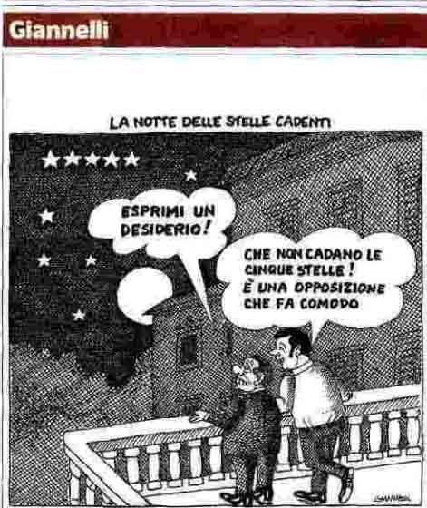 """Berlusconi: """"Esprimi un desiderio"""". Renzi: """"Che non cadano le cinque stelle! È una opposizione che fa comodo"""""""
