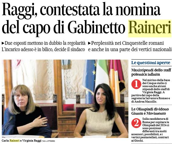 virginia raggi carla raineri 1