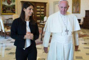 virginia-raggi-staff-vaticano