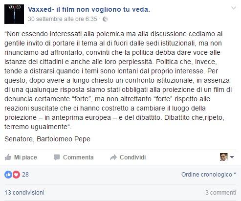 bartolomeo-pepe-vaxxed-comunicato