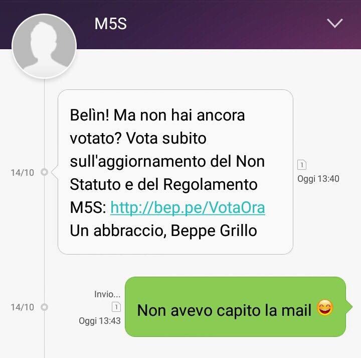 beppe grillo sms 5