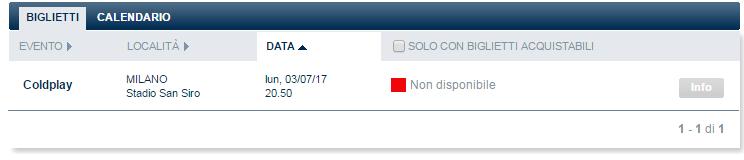 biglietti coldplay ticketone esauriti