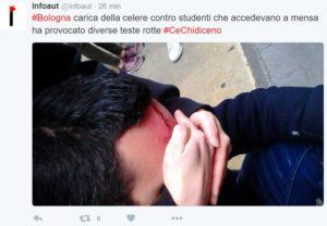 bologna studenti mensa polizia 1