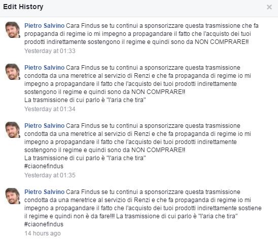 findus boicottaggio grillini aria che tira Pietro Salvino