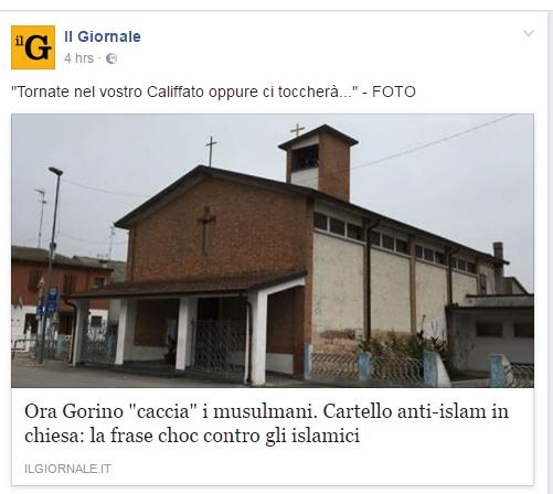 gorino cartello islam chiesa goro