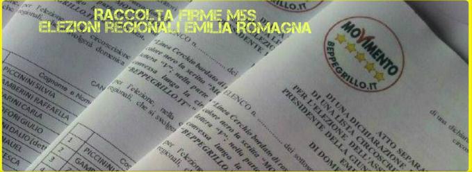 raccolta firme m5s emilia romagna