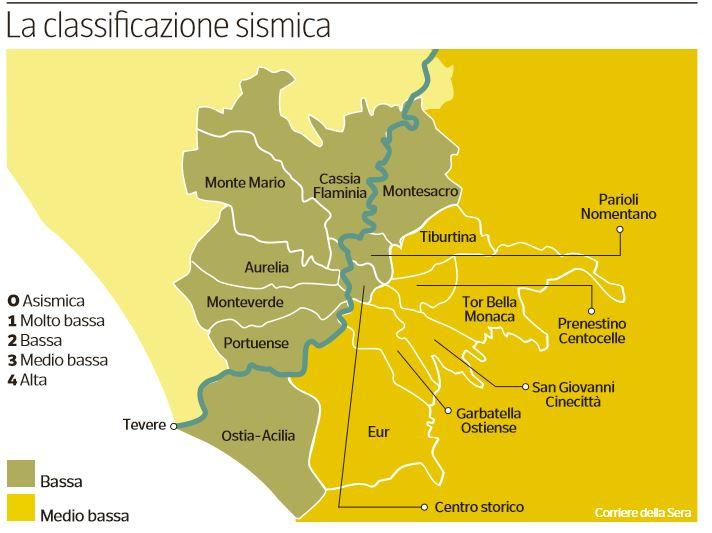 roma classificazione sismica