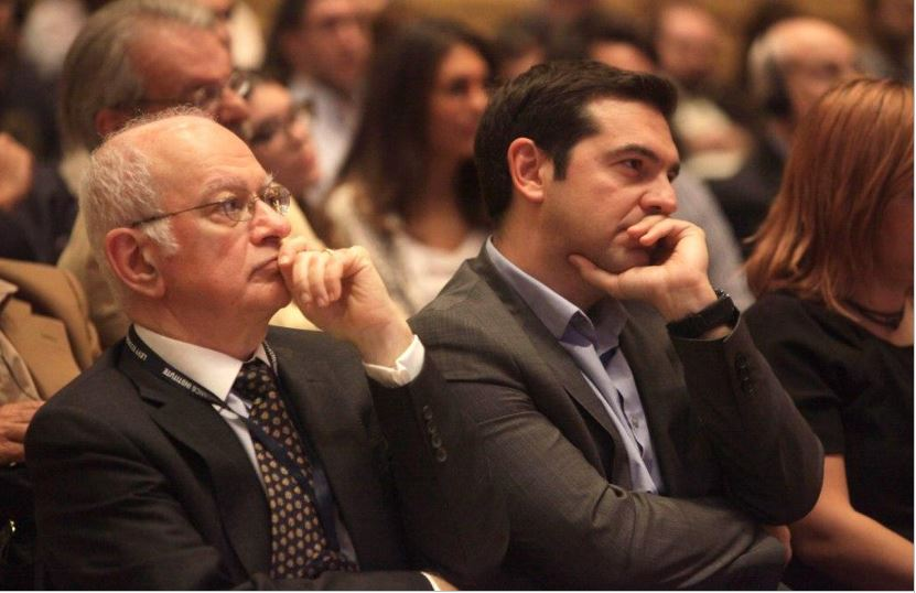 Papadimitriou e Tsipras ad una conferenza del Levy Institute