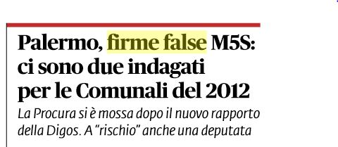 firme false palermo m5s 1