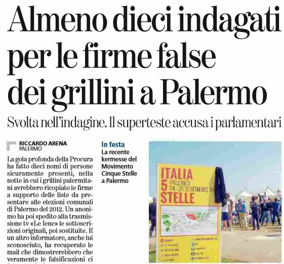 firme false palermo m5s