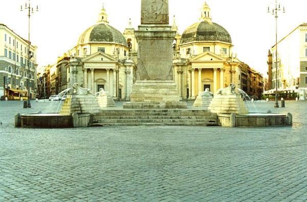fontana leoni piazza popolo