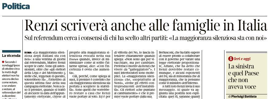 lettera renzi italiani referendum