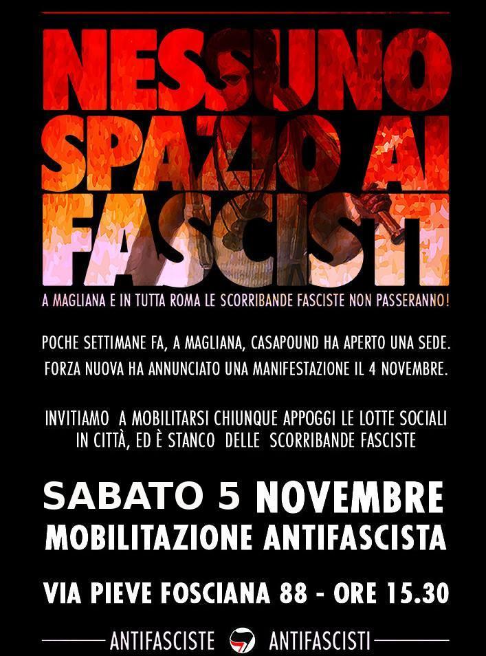 manifestazione novembre-magliana
