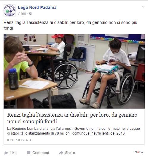 renzi disabili manovra finanziaria massimo garavaglia