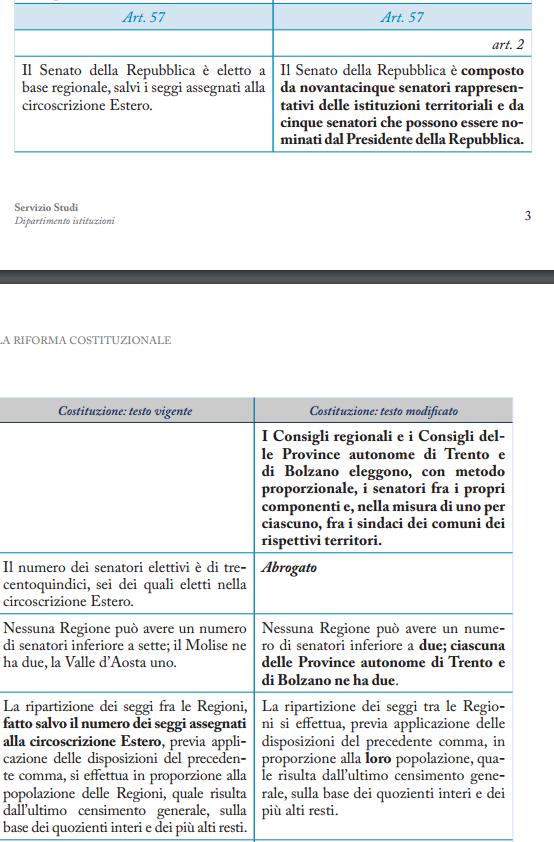 riforma costituzionale elezione senato regioni a statuto speciale