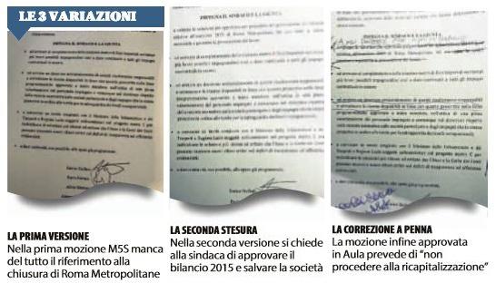 roma metropolitane tre mozioni