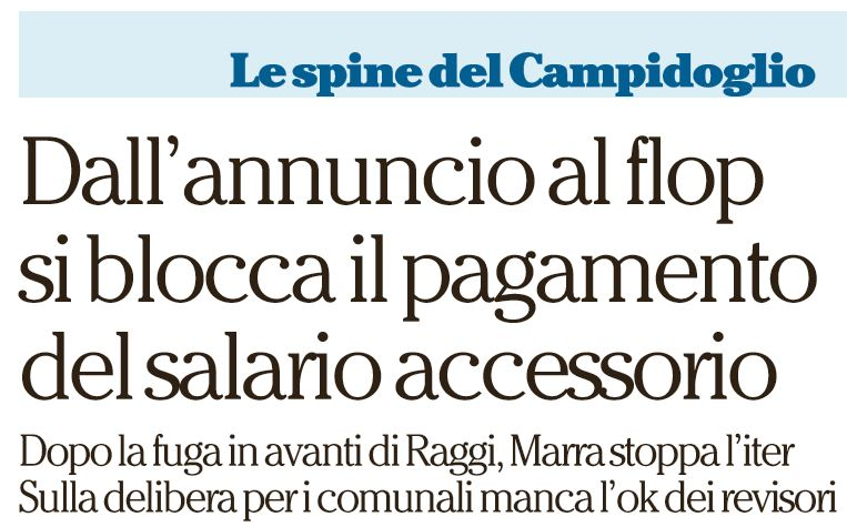 salario accessorio virginia raggi