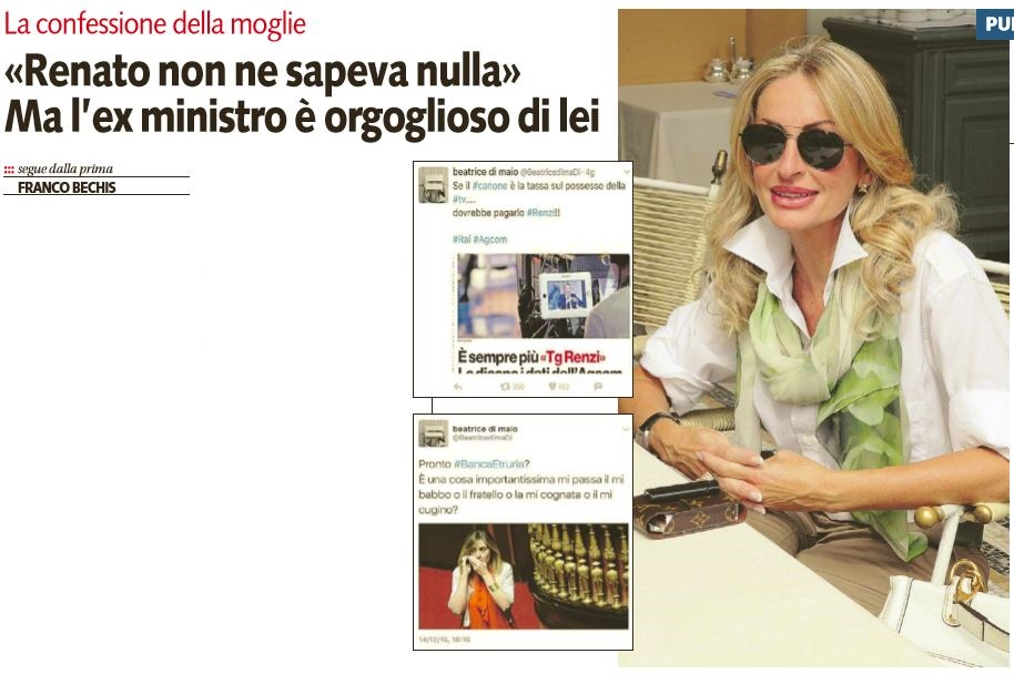 Svelato il mistero: Beatrice Di Maio è la moglie di Brunetta