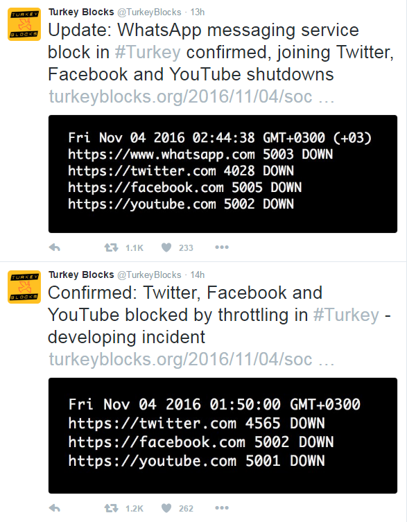turchia arresti pkk hdp blocco internet