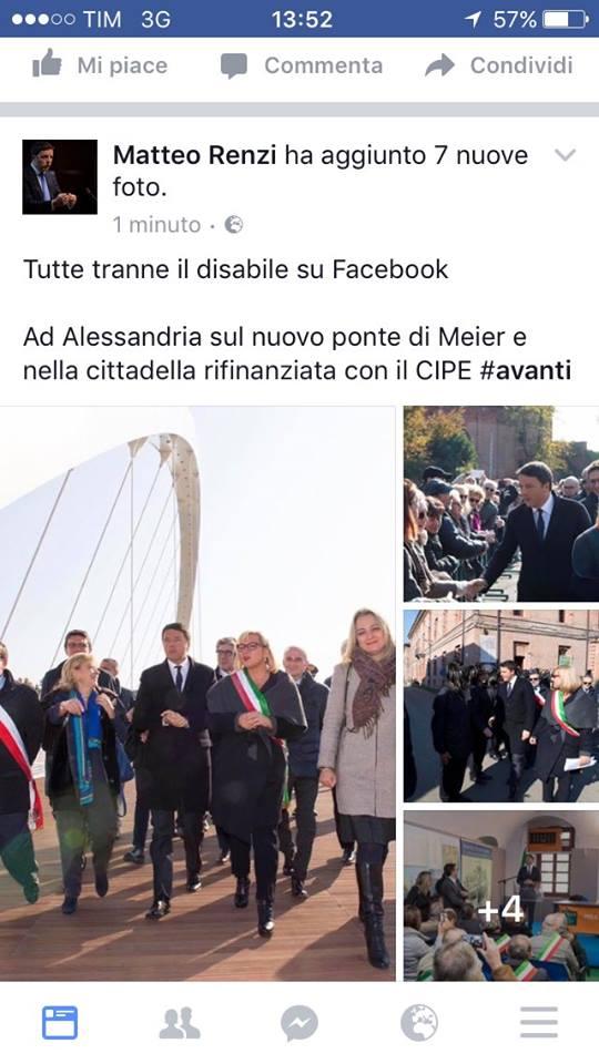 tutte tranne disabile facebook-matteo-renzi