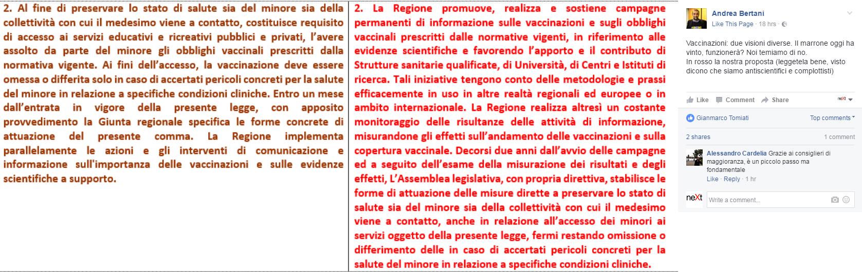 vaccinazioni obbligatorie emilia romagna m5s - 1