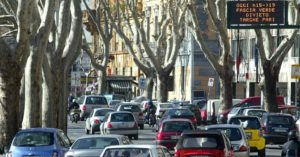 blocco traffico roma 1