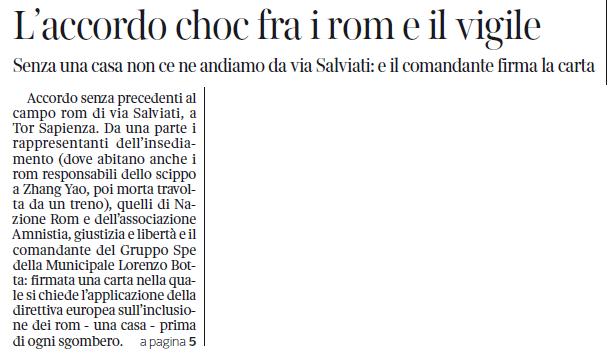 corriere della sera roma choc case rom