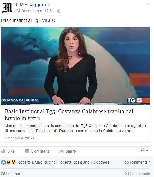 costanza calabrese video tg5