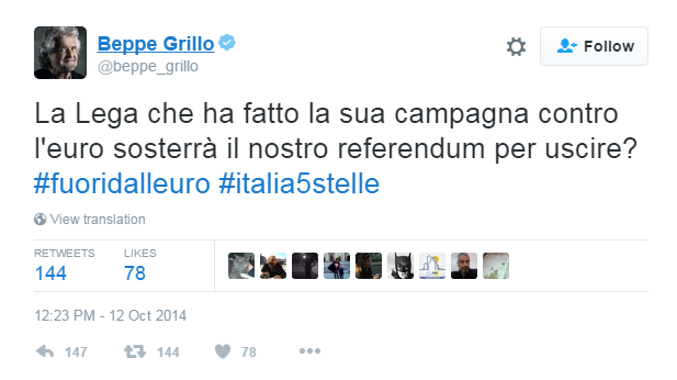 di battista referendum euro grillo