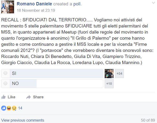 """Firme false M5S a Palermo, deputata Di Vita in Procura"""""""