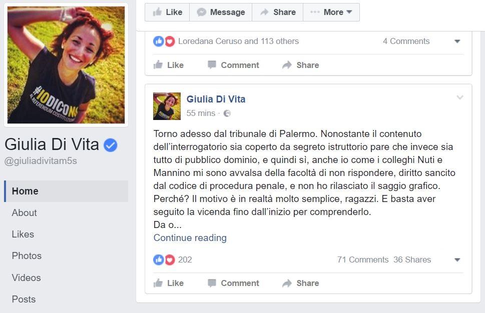 M5S e le firme false a Palermo, parla Nuti