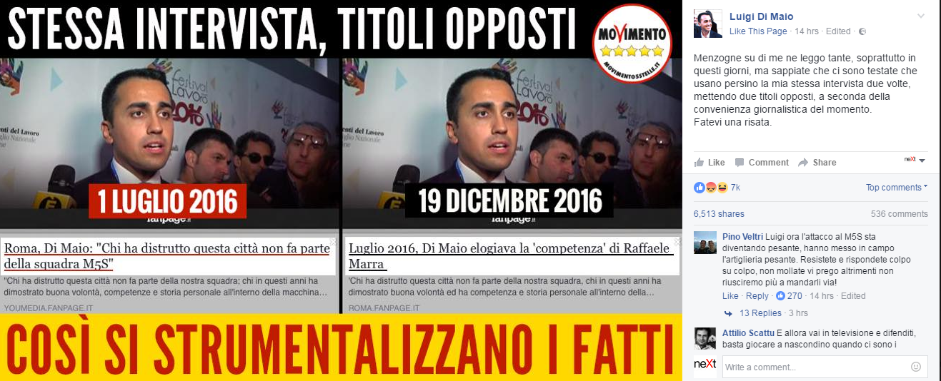 luigi di maio raffaele marra video intervista