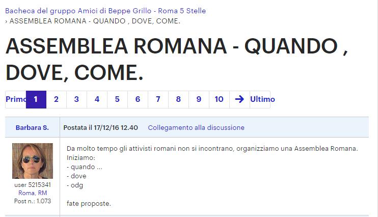 m5s roma assemblea meetup