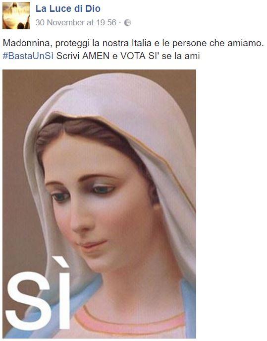 referendum della madonna