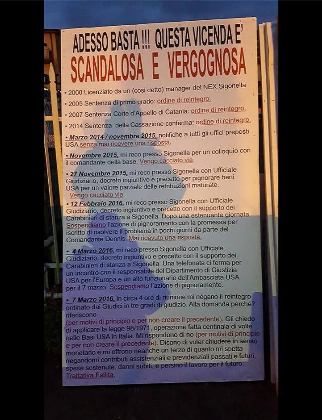 Carmelo cocuzza l 39 ex dipendente di sigonella che ha fatto - Ufficiale giudiziario pignoramento ...