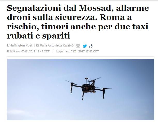 droni attacchi terroristici