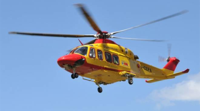 elicottero 118 campo felice