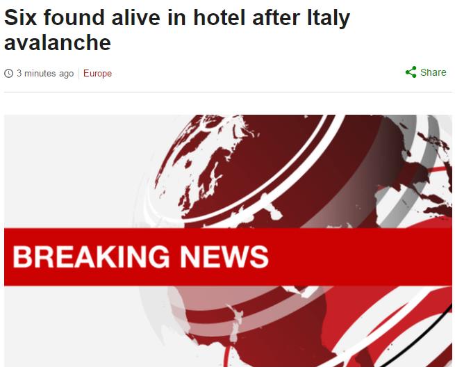 hotel rigopiano sei superstiti