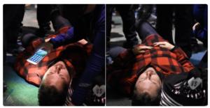 manifestante pro trump portland aggressione