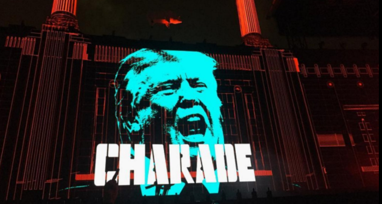 roger waters pigs animals donald trump resistenza