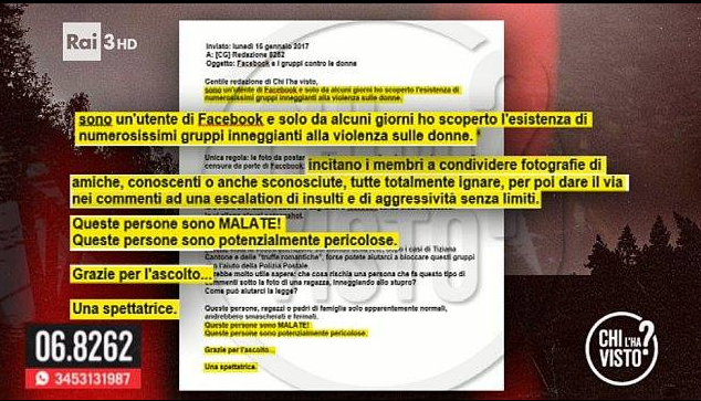 sciarelli insulti facebook gruppi onanisti violenza 1