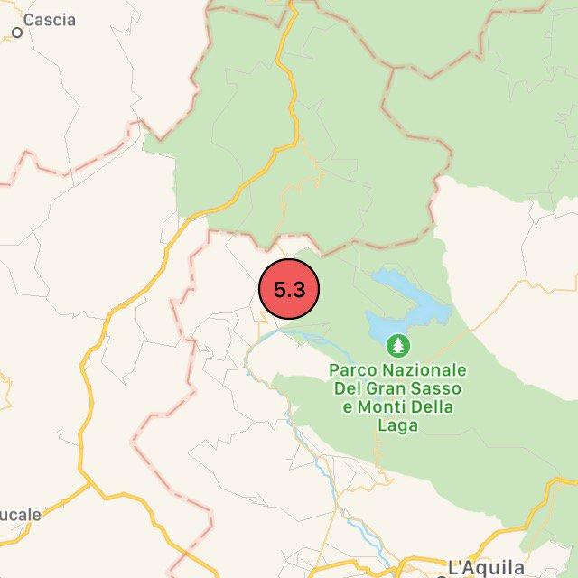terremoto 5.3 aquila roma