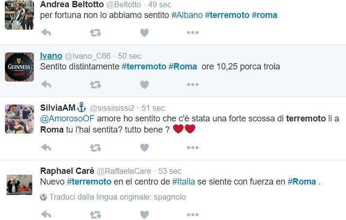 terremoto roma centro italia