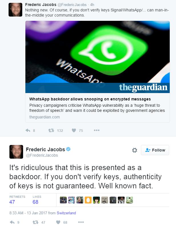 whatsapp backdoor crittografia