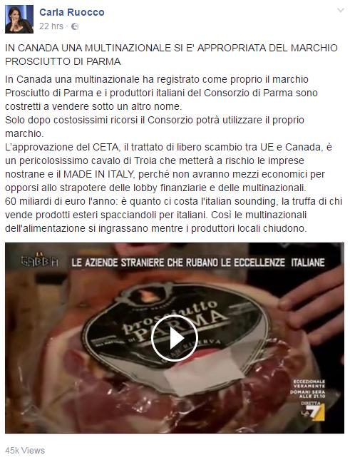 carla ruocco ceta falsi alimentari - 1