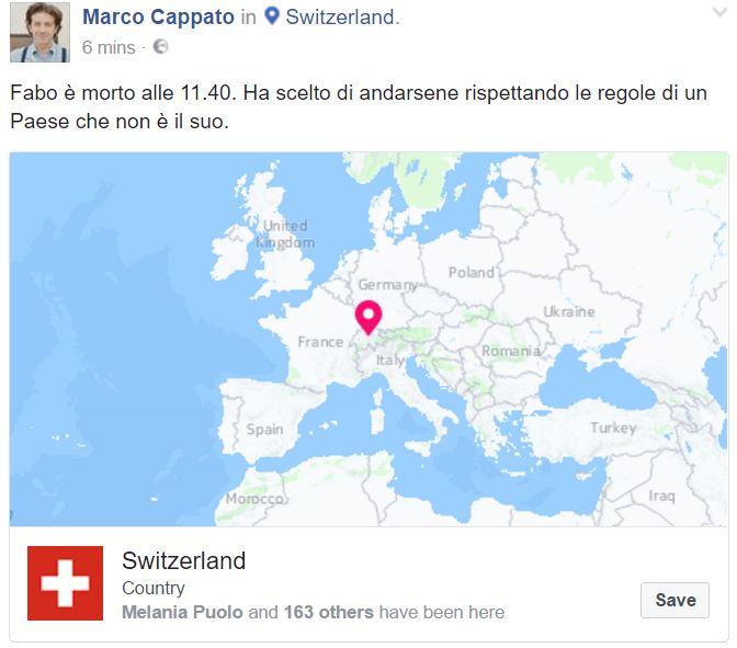 Dj Fabo morto: scelta l'eutanasia in Svizzera